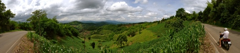 View along our motorbike ride to Mae Salong