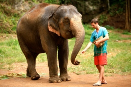 Eric feeding Mamae
